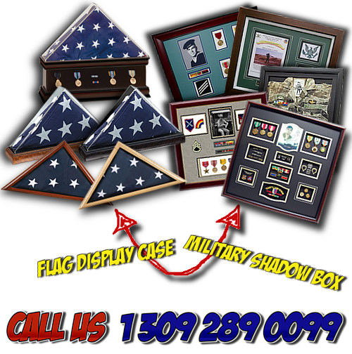 Flag Cases and Military Shadow Boxes